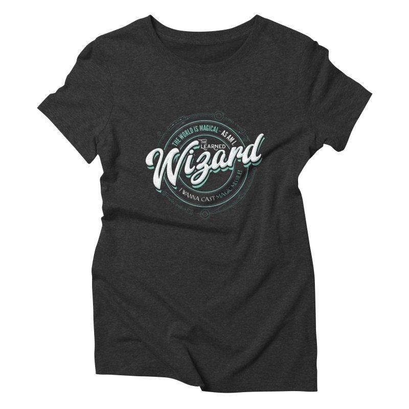 D&D Wizard Women's Triblend T-Shirt by Carl Huber's Artist Shop