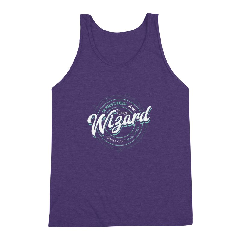 D&D Wizard Men's Triblend Tank by Carl Huber's Artist Shop