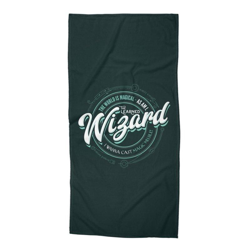 D&D Wizard Accessories Beach Towel by carlhuber's Artist Shop