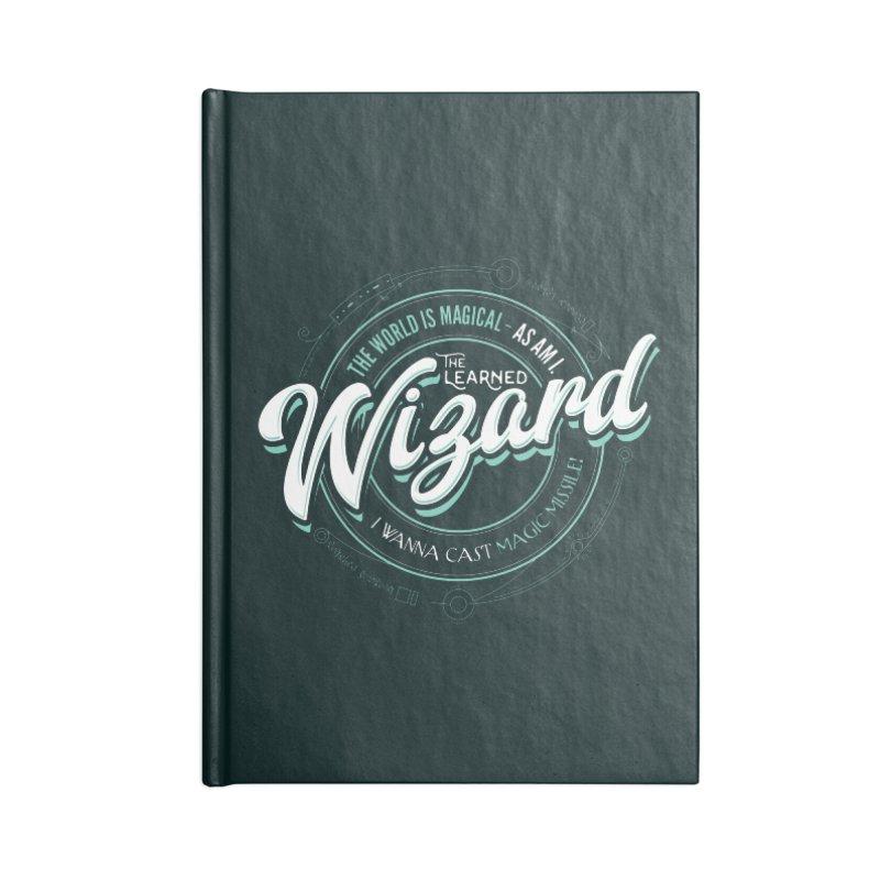 D&D Wizard Accessories Lined Journal Notebook by Carl Huber's Artist Shop