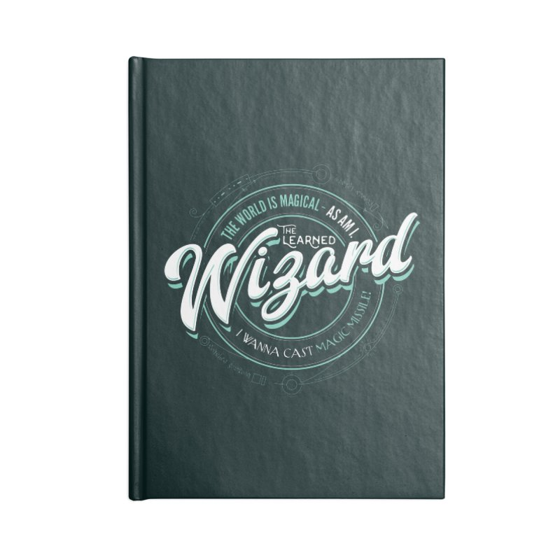 D&D Wizard Accessories Blank Journal Notebook by Carl Huber's Artist Shop