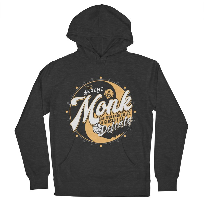 D&D Monk Women's French Terry Pullover Hoody by Carl Huber's Artist Shop