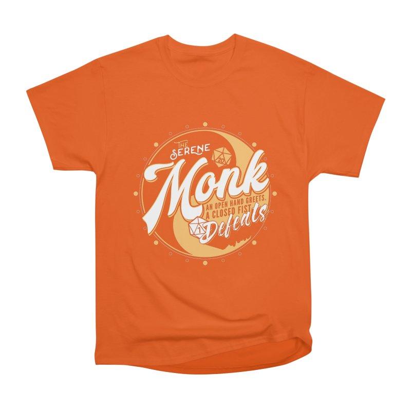 D&D Monk Men's Heavyweight T-Shirt by Carl Huber's Artist Shop
