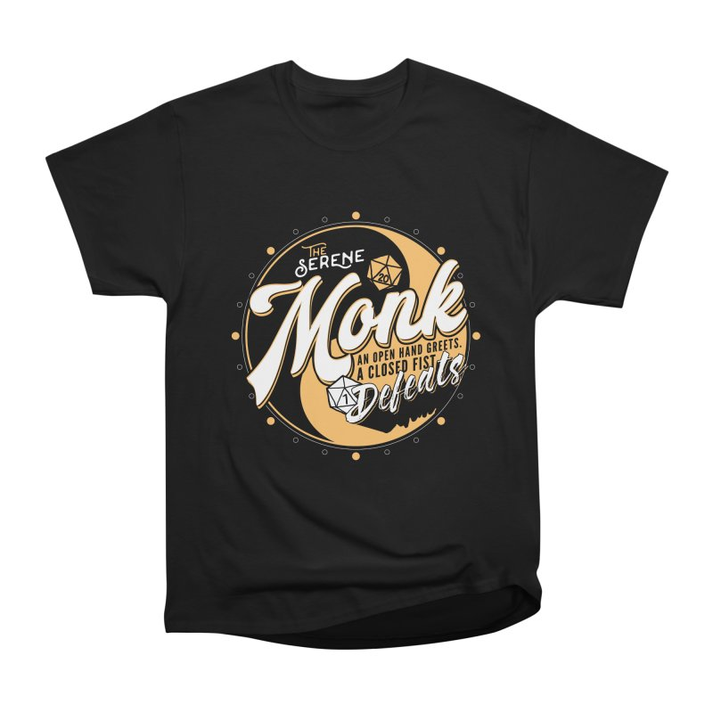 D&D Monk Men's Heavyweight T-Shirt by Carl Huber's Artist Shop