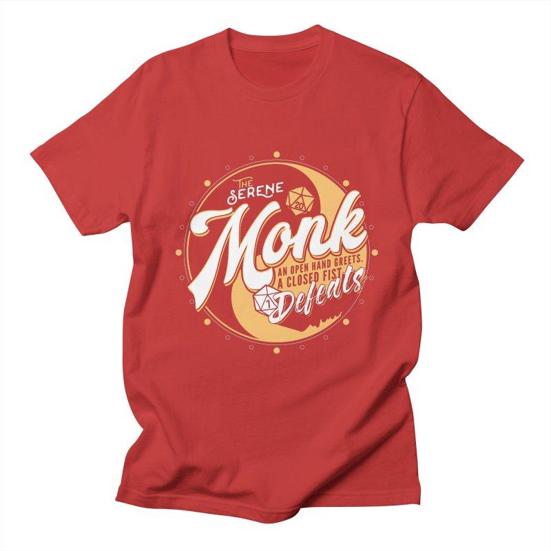 D&D Monk Men's Regular T-Shirt by Carl Huber's Artist Shop