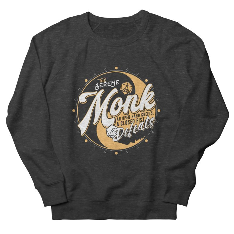 D&D Monk Women's French Terry Sweatshirt by carlhuber's Artist Shop