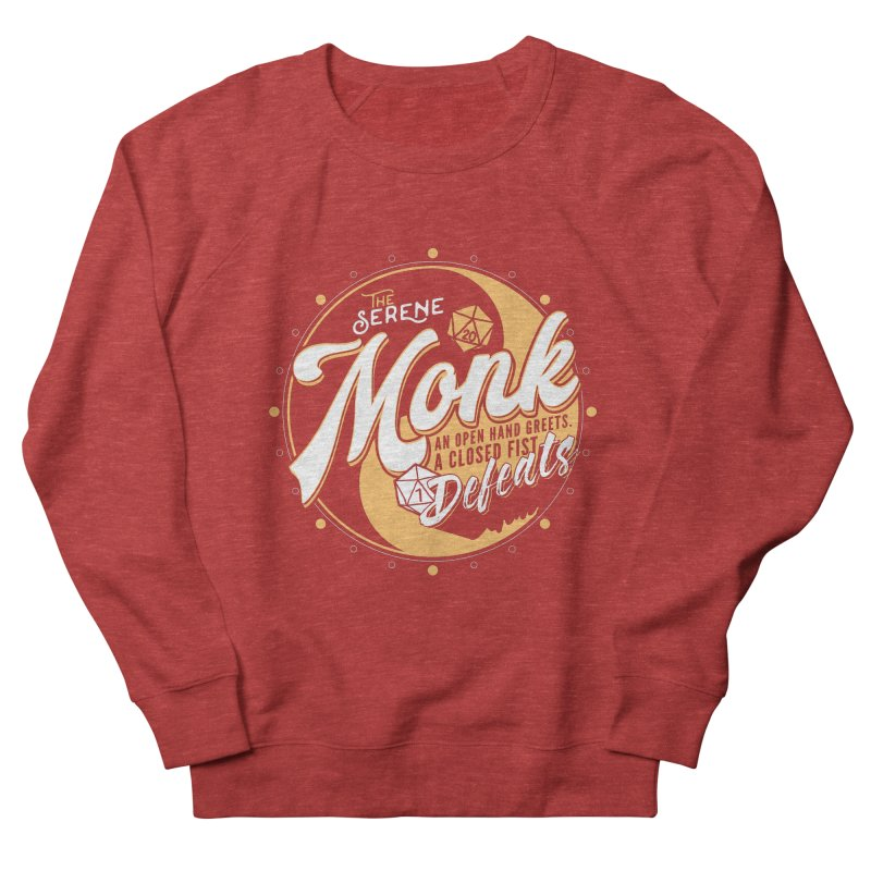 D&D Monk Women's French Terry Sweatshirt by Carl Huber's Artist Shop
