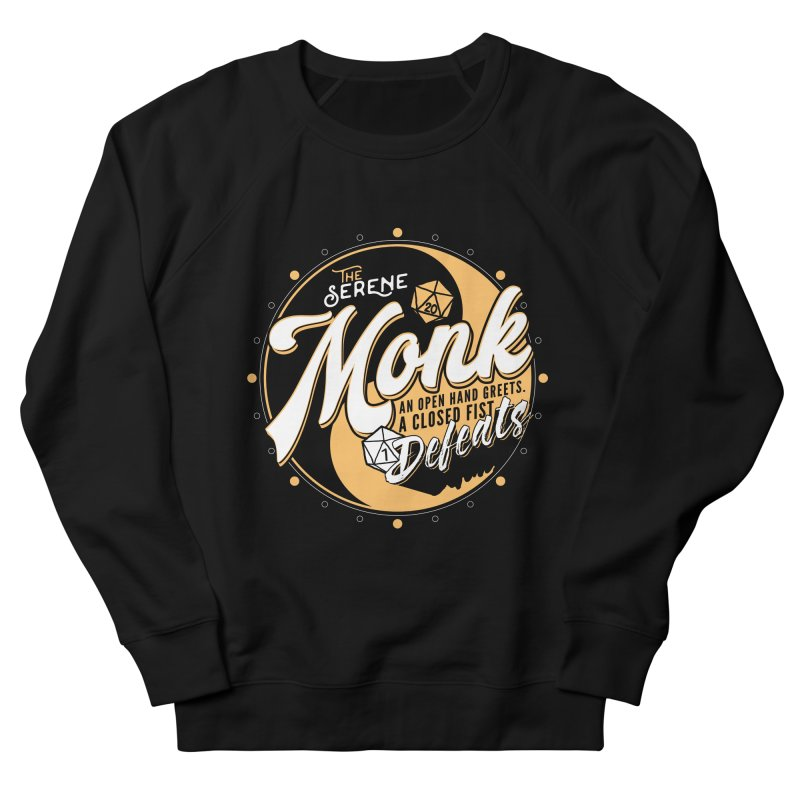 D&D Monk Men's French Terry Sweatshirt by Carl Huber's Artist Shop