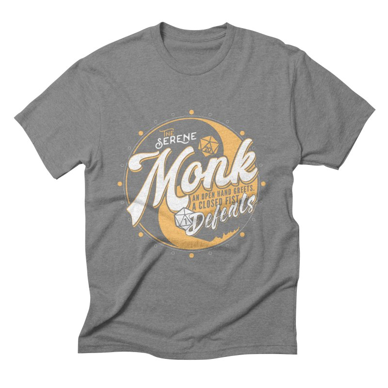 D&D Monk Men's Triblend T-Shirt by carlhuber's Artist Shop