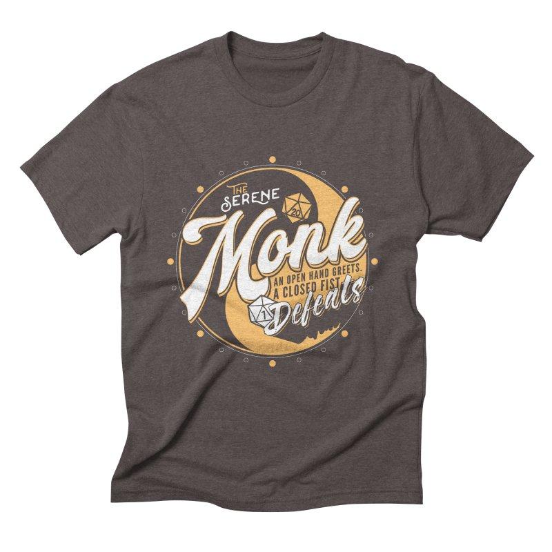 D&D Monk Men's Triblend T-Shirt by carlhuber's Artist Shop