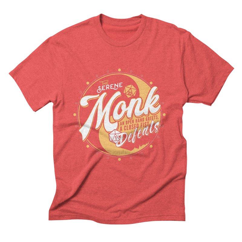 D&D Monk Men's Triblend T-Shirt by Carl Huber's Artist Shop