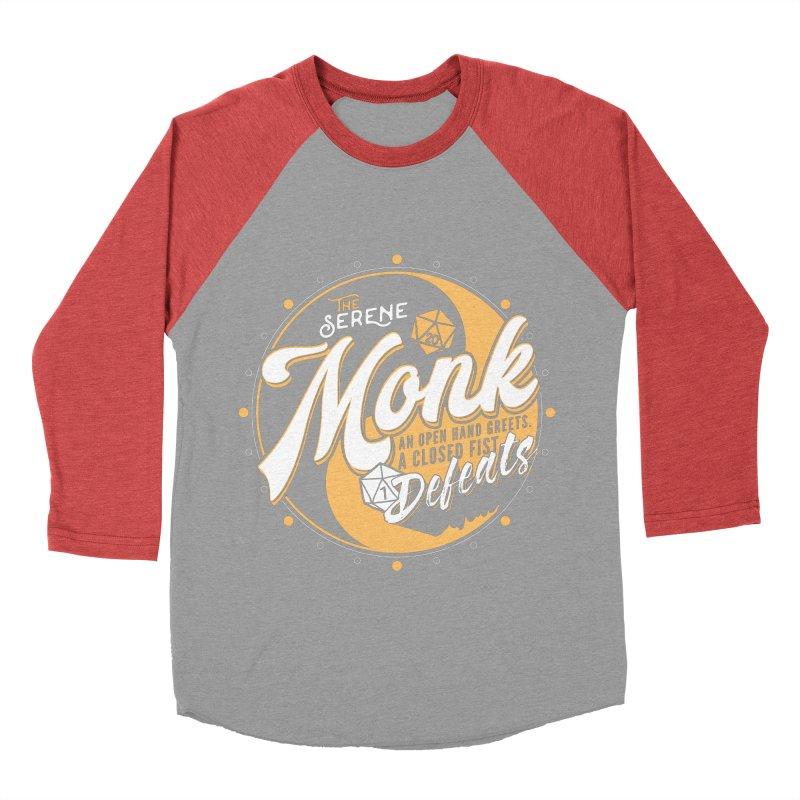 D&D Monk Women's Baseball Triblend Longsleeve T-Shirt by Carl Huber's Artist Shop
