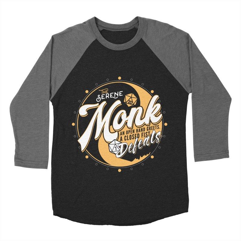 D&D Monk Men's Baseball Triblend Longsleeve T-Shirt by Carl Huber's Artist Shop