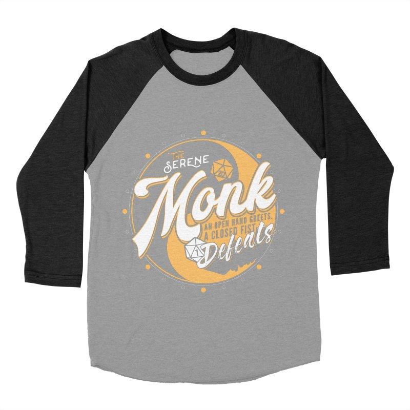 D&D Monk Men's Baseball Triblend T-Shirt by carlhuber's Artist Shop