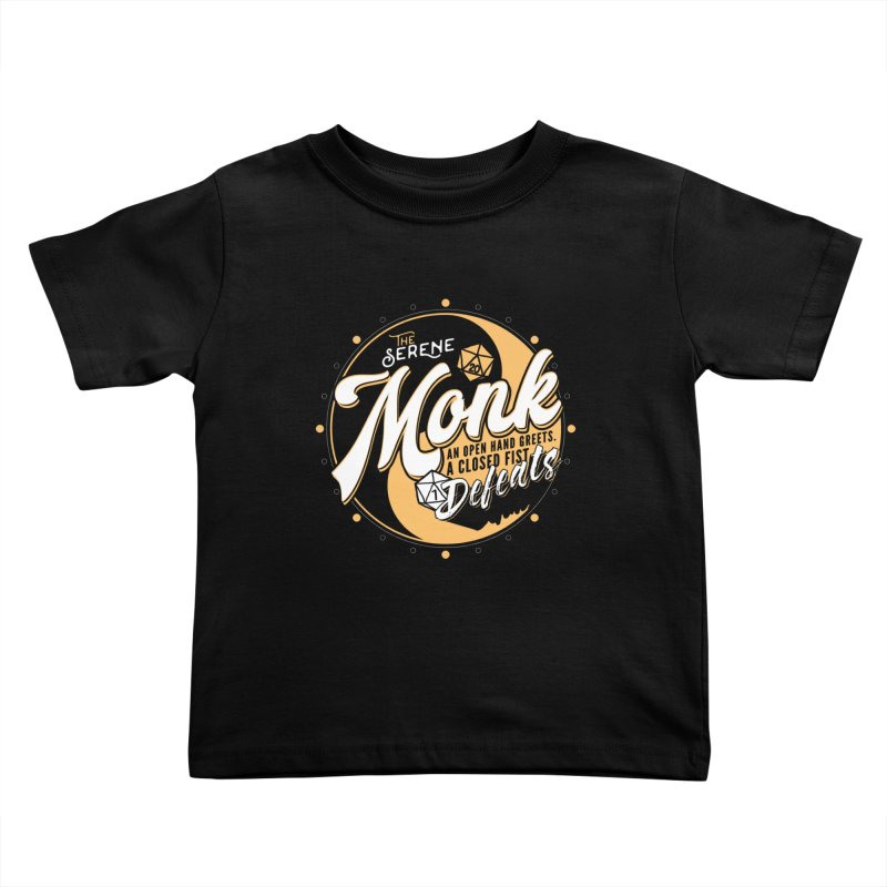 D&D Monk Kids Toddler T-Shirt by Carl Huber's Artist Shop