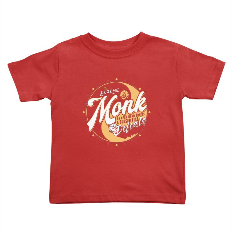 D&D Monk Kids Toddler T-Shirt by carlhuber's Artist Shop