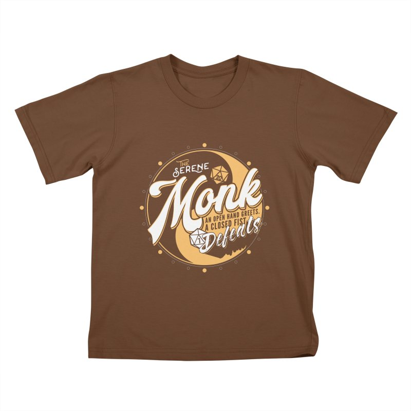 D&D Monk Kids T-Shirt by Carl Huber's Artist Shop