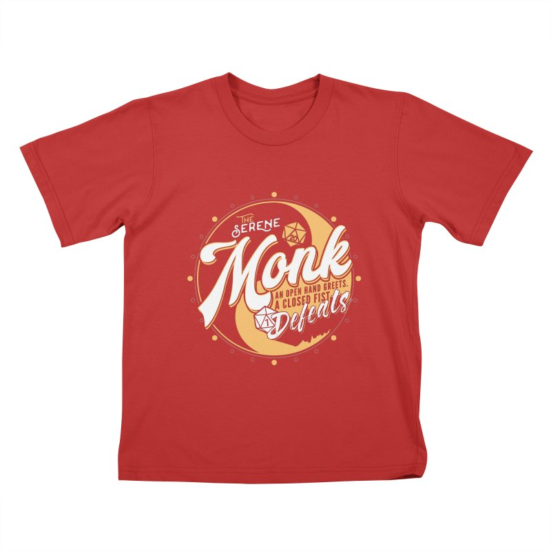 D&D Monk Kids T-Shirt by carlhuber's Artist Shop