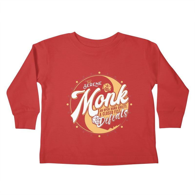 D&D Monk Kids Toddler Longsleeve T-Shirt by carlhuber's Artist Shop