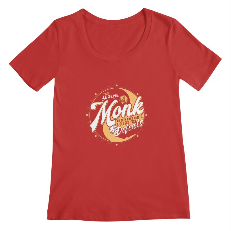 D&D Monk Women's Regular Scoop Neck by Carl Huber's Artist Shop