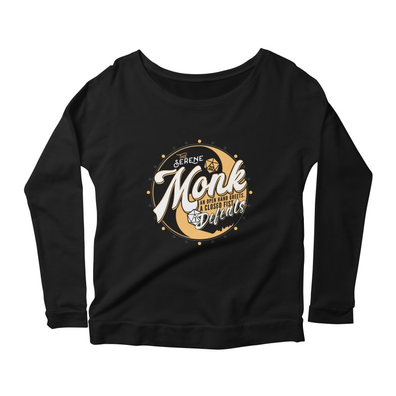 D&D Monk Women's Scoop Neck Longsleeve T-Shirt by Carl Huber's Artist Shop