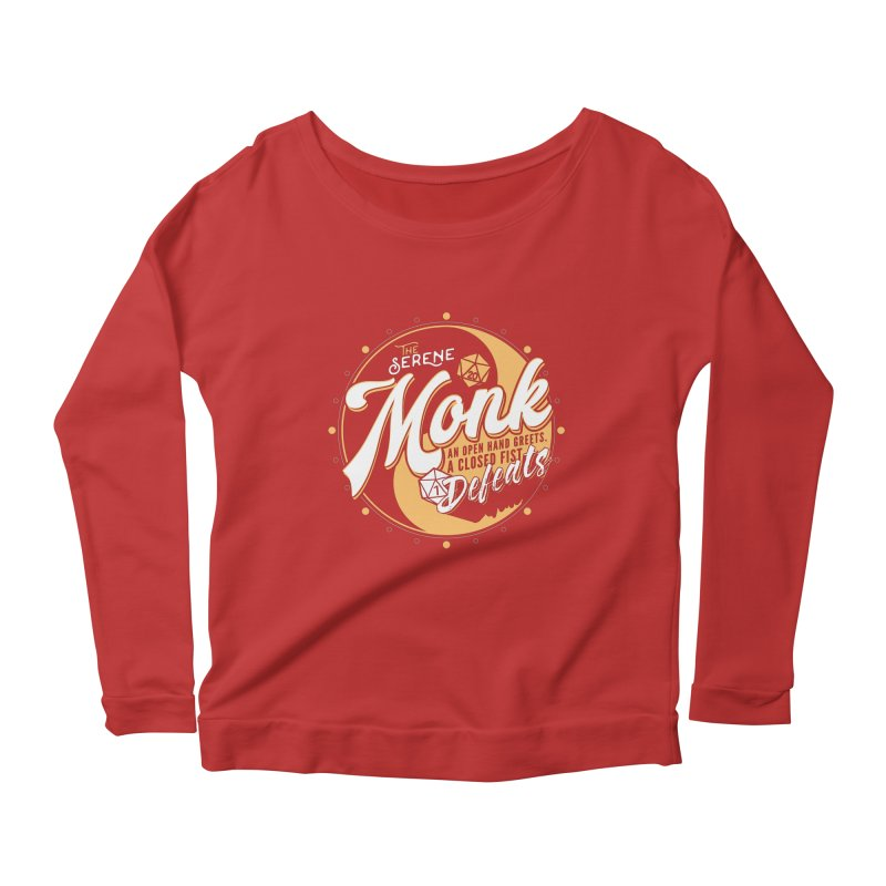 D&D Monk Women's Scoop Neck Longsleeve T-Shirt by carlhuber's Artist Shop