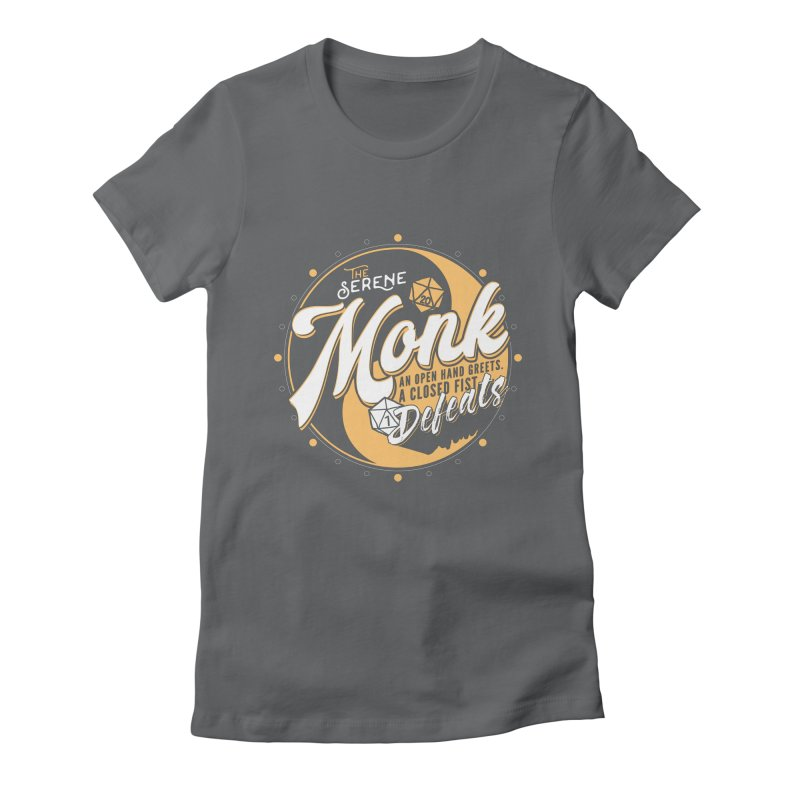 D&D Monk Women's Fitted T-Shirt by carlhuber's Artist Shop