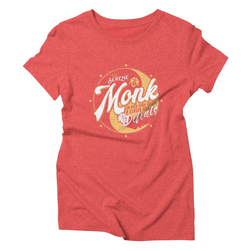 D&D Monk Women's Triblend T-Shirt by carlhuber's Artist Shop