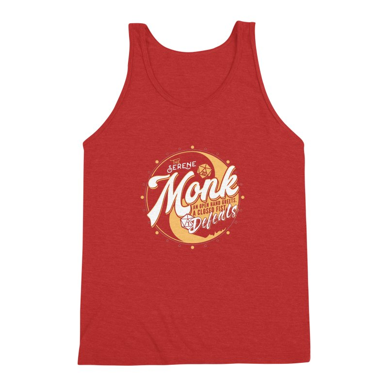 D&D Monk Men's Triblend Tank by Carl Huber's Artist Shop