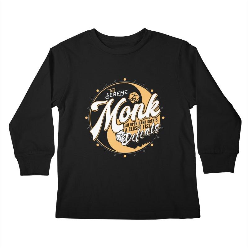 D&D Monk Kids Longsleeve T-Shirt by Carl Huber's Artist Shop