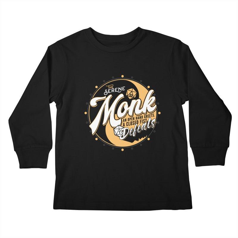 D&D Monk Kids Longsleeve T-Shirt by carlhuber's Artist Shop