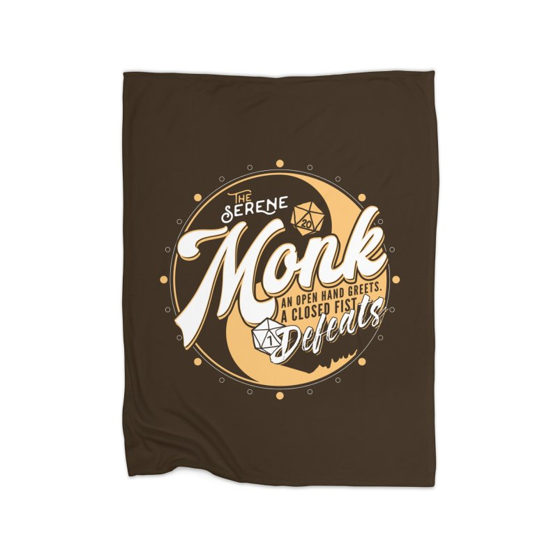 D&D Monk Home Fleece Blanket Blanket by Carl Huber's Artist Shop