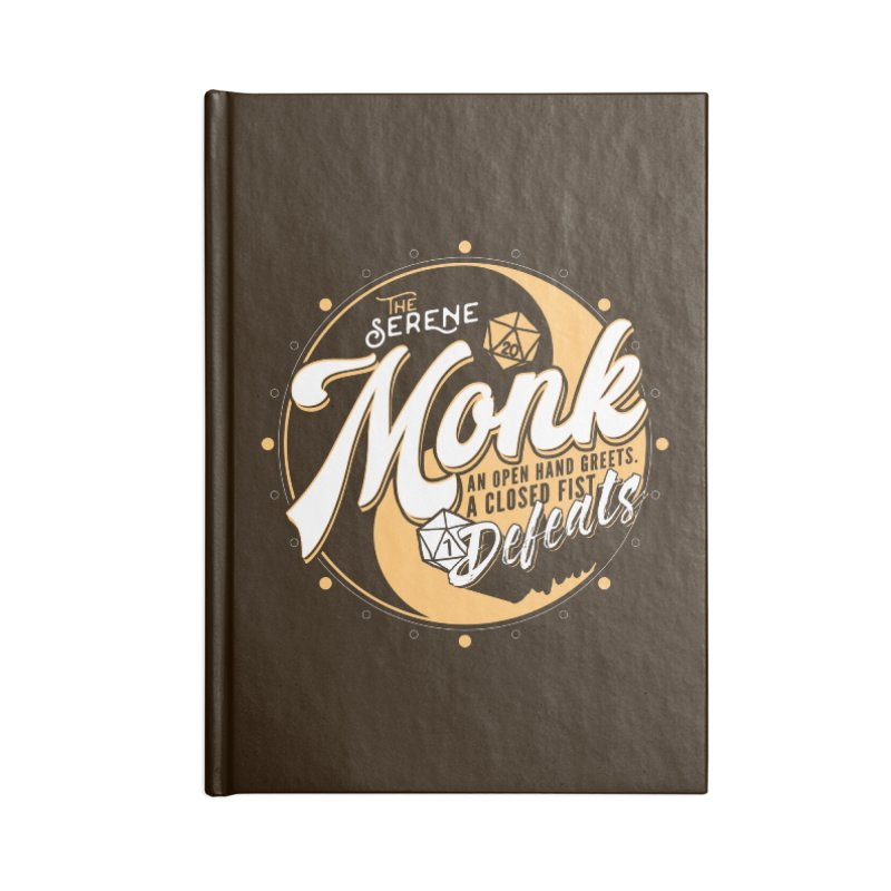 D&D Monk Accessories Blank Journal Notebook by Carl Huber's Artist Shop