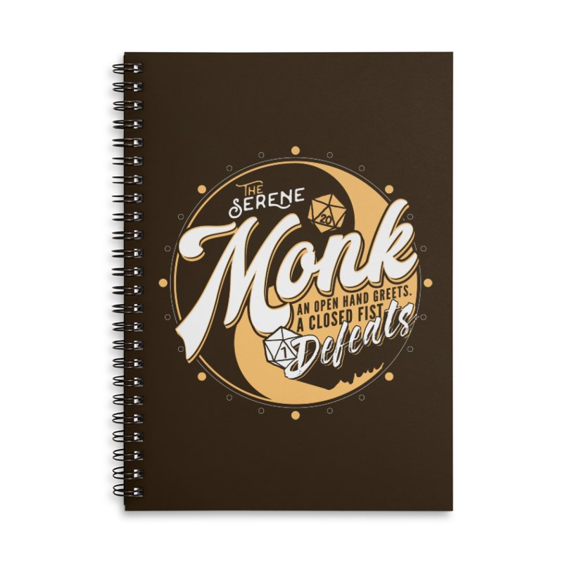 D&D Monk Accessories Lined Spiral Notebook by Carl Huber's Artist Shop