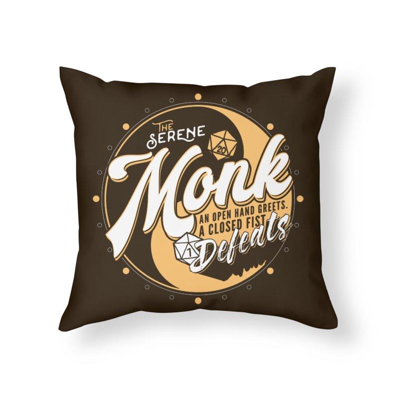 D&D Monk Home Throw Pillow by Carl Huber's Artist Shop