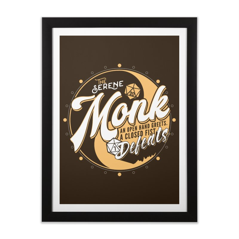 D&D Monk Home Framed Fine Art Print by carlhuber's Artist Shop