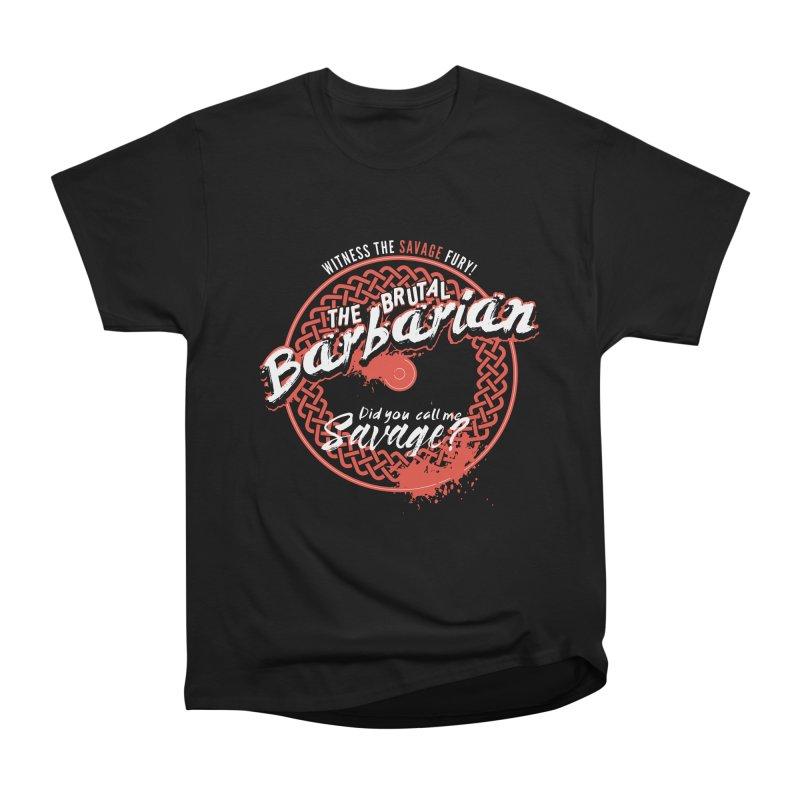 D&D Barbarian Women's Heavyweight Unisex T-Shirt by Carl Huber's Artist Shop