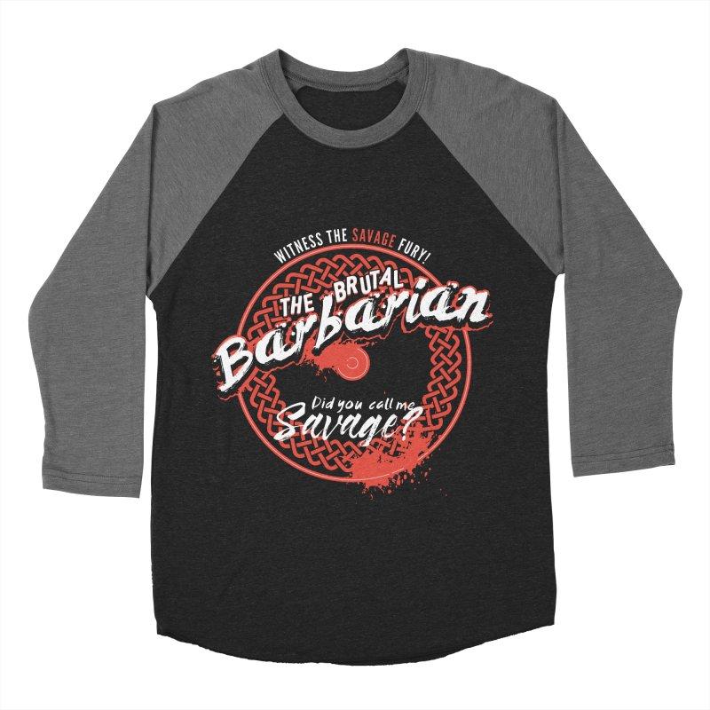 D&D Barbarian Women's Baseball Triblend T-Shirt by carlhuber's Artist Shop