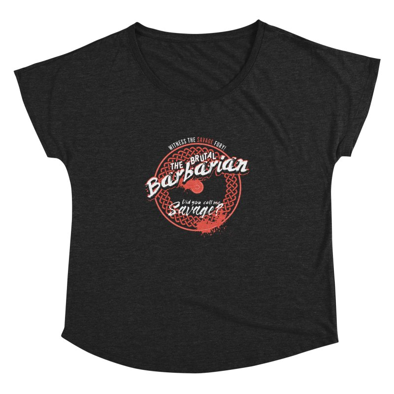 D&D Barbarian Women's Dolman Scoop Neck by carlhuber's Artist Shop