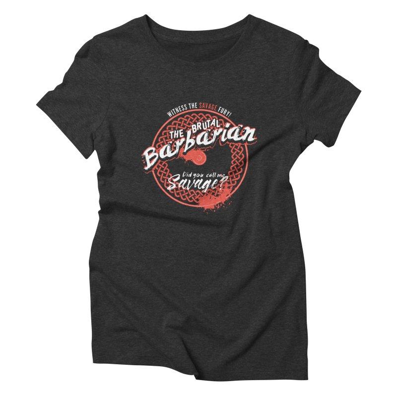 D&D Barbarian Women's Triblend T-Shirt by Carl Huber's Artist Shop