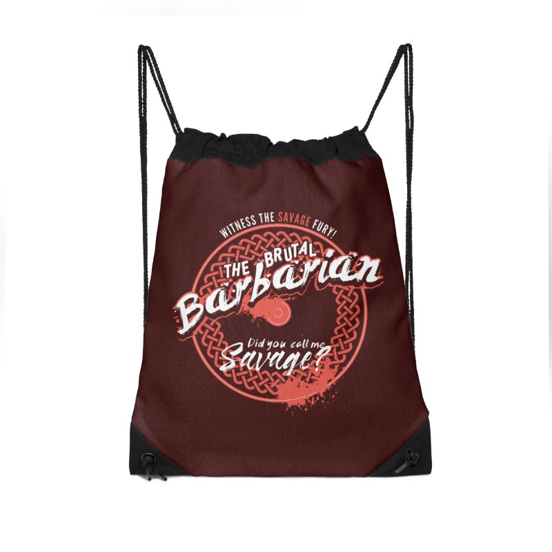 D&D Barbarian Accessories Drawstring Bag Bag by Carl Huber's Artist Shop