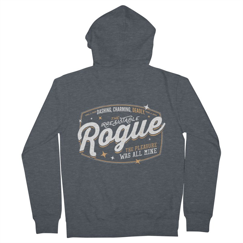 D&D Rogue Women's French Terry Zip-Up Hoody by carlhuber's Artist Shop