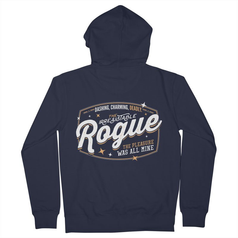 D&D Rogue Men's French Terry Zip-Up Hoody by Carl Huber's Artist Shop