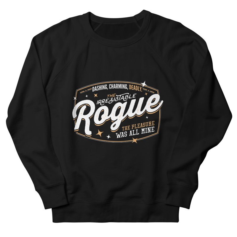D&D Rogue Men's French Terry Sweatshirt by Carl Huber's Artist Shop