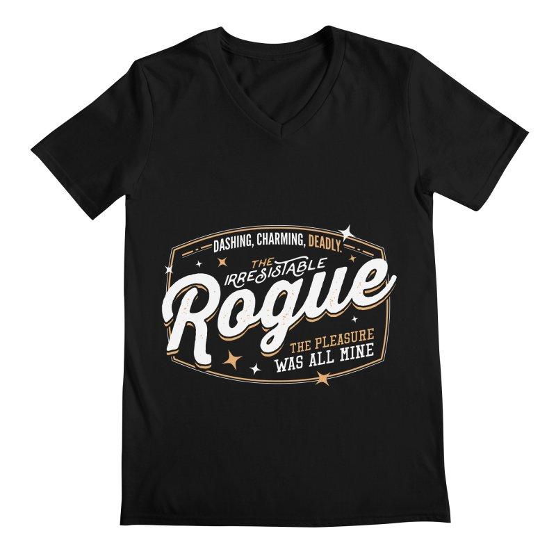 D&D Rogue Men's Regular V-Neck by carlhuber's Artist Shop