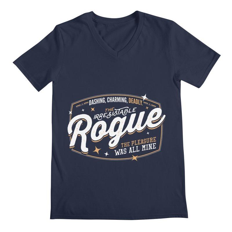 D&D Rogue Men's Regular V-Neck by Carl Huber's Artist Shop