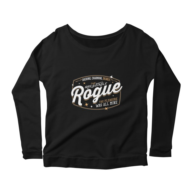 D&D Rogue Women's Scoop Neck Longsleeve T-Shirt by Carl Huber's Artist Shop