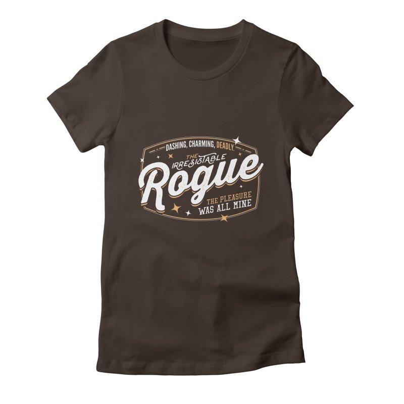 D&D Rogue Women's Fitted T-Shirt by Carl Huber's Artist Shop