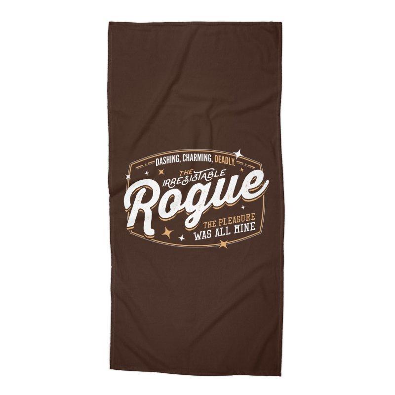 D&D Rogue Accessories Beach Towel by Carl Huber's Artist Shop