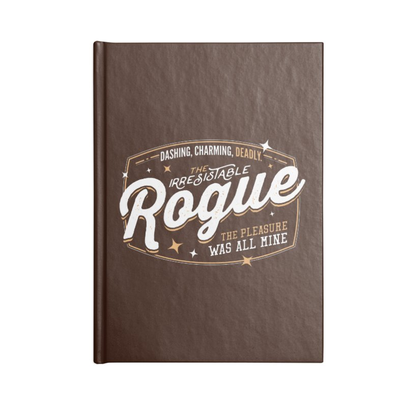 D&D Rogue Accessories Blank Journal Notebook by Carl Huber's Artist Shop